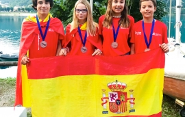 España se cuelga el bronce en el Europeo Team Racing de Optimist